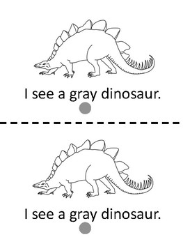 Gray-Read and color emergent reader with clipart