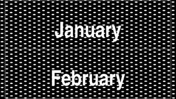 Gray Scale Calendar Set