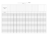 Gray-Scale Mark Sheet Template