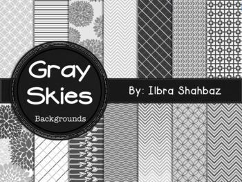 Gray Skies Digital Paper Backgrounds