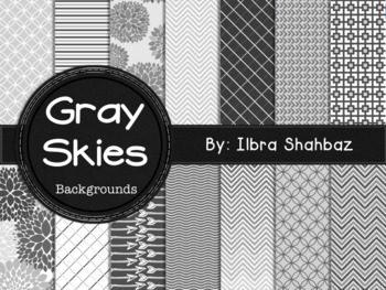 Gray Skies Digital Paper Backgrounds