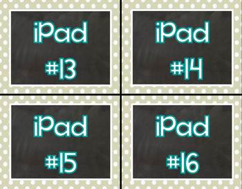 Gray Skies iPad Labels for your Classroom iPads/iPad Containers
