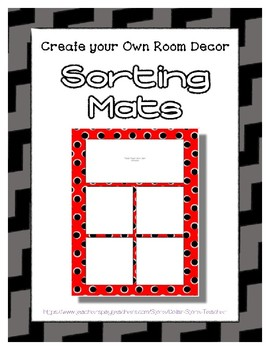 Gray Sorting Mat Frames * Create Your Own Dream Classroom / Daycare *