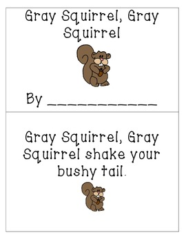 Gray Squirrel, Gray Squirrel Printable Book