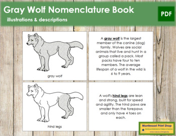 Gray Wolf Nomenclature Book