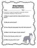 Gray Wolves - Web Search Activity