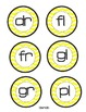 Gray & Yellow Chevron Phonics Circles {editable}