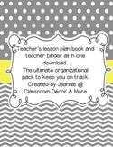 Gray & Yellow Planner/Binder Combo