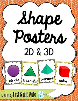 Gray & Yellow Shape Posters for Classroom Decor