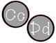 Gray and Black Alphabet Classroom Display