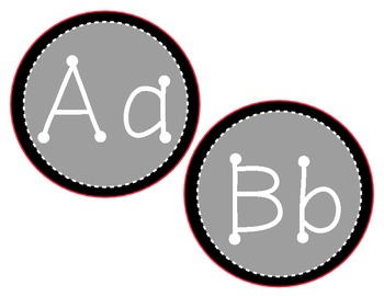 Gray and Black Alphabet Classroom Display