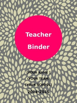 Gray and Pink Design Binder Combo Pack (Editable)