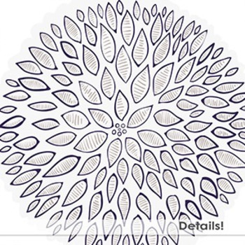 Gray and Purple Modern Flower ClipArt, PNG Lavender Floral Clip Art, HandDrawn