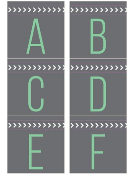 Gray and Teal Letters