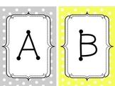 Gray and Yellow Alphabet