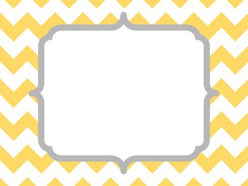 Yellow and Gray Borders and Frames