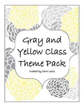 Gray and Yellow Class Pack / Class Theme