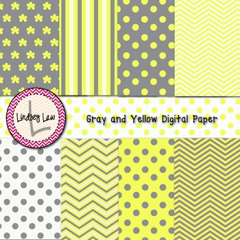 Gray and Yellow Digital Paper