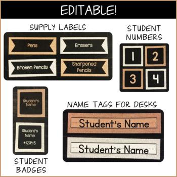 Grayscale Burlap Texture - Classroom Decor (BUNDLE)
