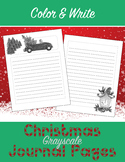 Grayscale Christmas Journal Pages