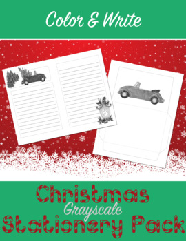 Grayscale Christmas Stationery Kit