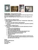 Grayscale Portrait-torn paper collage handouts