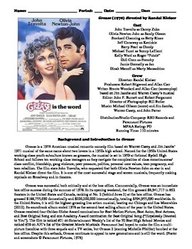 Grease Film (1978) Study Guide Movie Packet