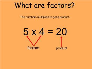 Greast Common Factor (GCF) - Smartboard Lesson