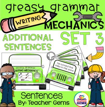 Greasy Grammar Writing Mechanics Set 3 Sentences
