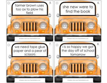 Greasy Grammar Writing Mechanics Set 4 Sentences