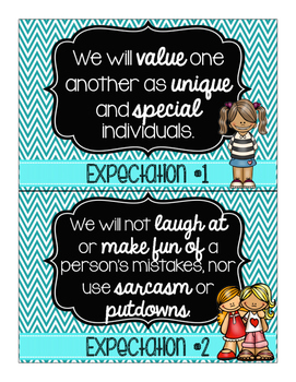 Great 8 Expectations for Living- Blue Chevron