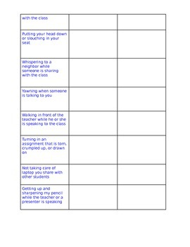 Great Activity For Teaching Positive Classroom Behaviors