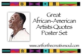 Great African-American Artists Quotes Poster Set
