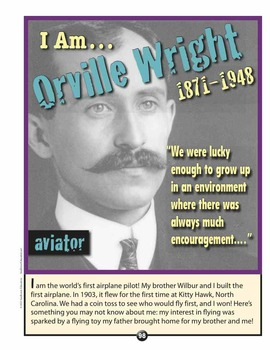 Great American AVIATORS—4 Mini Posters of Famous People in American History!