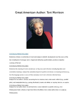 Great American Author Toni Morrison