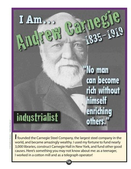 Great American BUSINESSMEN—4 Mini Posters of Famous People in American History!