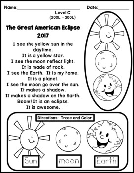 Great American Eclipse Multi-Level Reading Pack Levels A - C