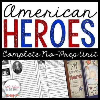 American Heroes No-Prep Unit (Biographies)