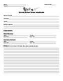 Great American Musicals Worksheet template