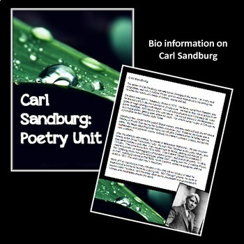 Great American Poets Analysis Bundle:  Frost, Dickinson, & Sandburg