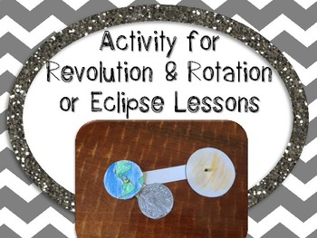 Great American Solar Eclipse Activity 2017 {Revolution and Rotation Activity}