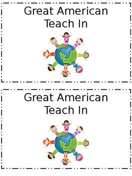 Great American Teach In Booklet