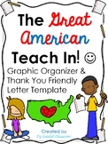 Great American Teach-in Graphic Organizer & Thank You Frie