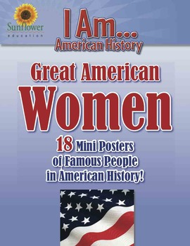 Great American WOMEN—18 Mini Posters of Famous People in A