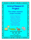 Great Animal Research Project - Grade 3 Common Core Writing Standards