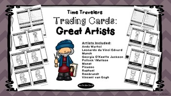 Great Artist Biography Research Trading Cards