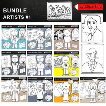 Great Artists Clip Art Bundle