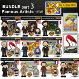 Great Artists Clip art-Famous Artists Clip Art BUNDLE part3
