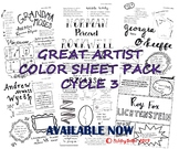 Great Artists Color Sheet Pack Cycle 3 Classical Conversat