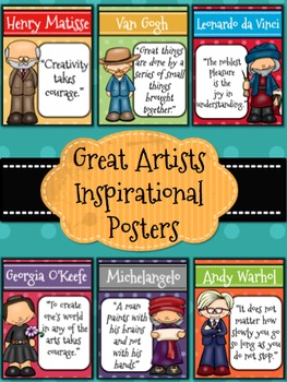 Great Artists Posters l Inspirational Quotes